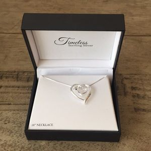 Timeless Sterling Silver Heart Necklace